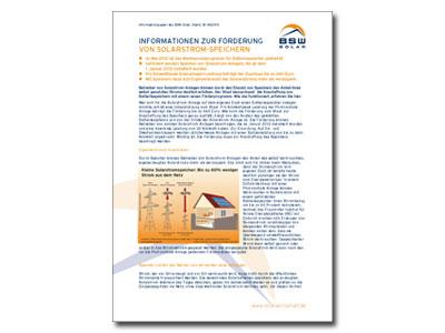 Hintergrundpapier Solarstromspeicher